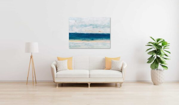 Abstraktes Ölgemälde auf Leinwand ruhiges Meer wandbild