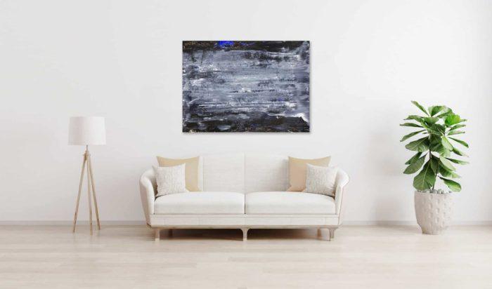 Abstraktes Ölgemälde auf Leinwand schwarze Landschaft mit Struktur wandbild