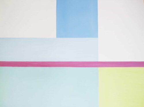Abstraktes Ölgemälde auf Leinwand helle konkrete Flächen