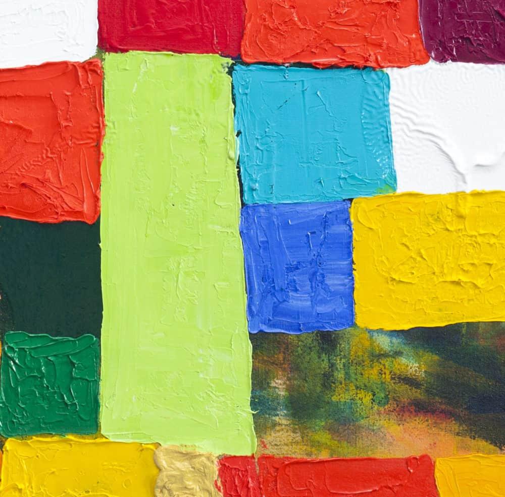 Acrylbild abstrakte Flächen