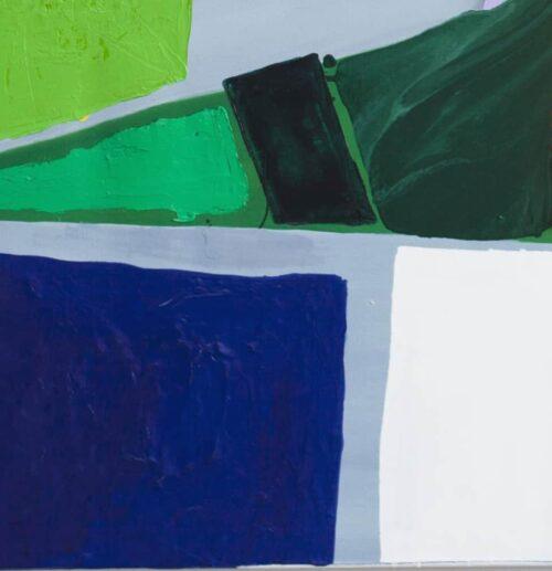 Acrylbild abstrakte Flächen Grün Blau