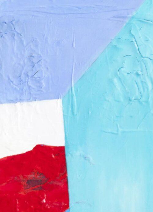 Acrylbild abstrakte Flächen Rot Blau