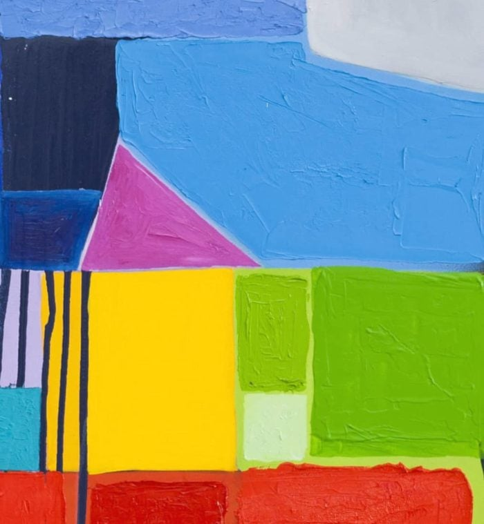 Acrylbild abstrakte Flächen farbig