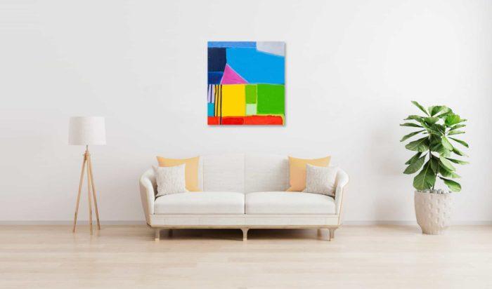 Acrylbild abstrakte Flächen farbig wandbild