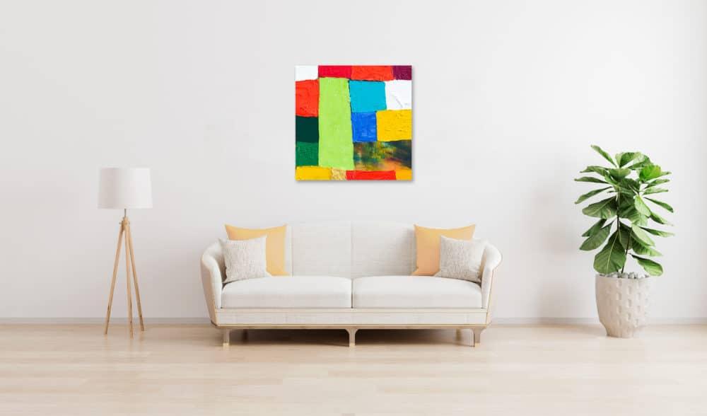 Acrylbild abstrakte Flächen wandbild