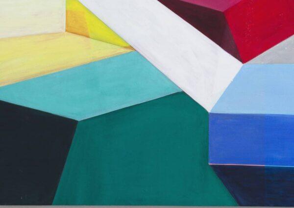 Acrylbild modern Bricks Grün Blau