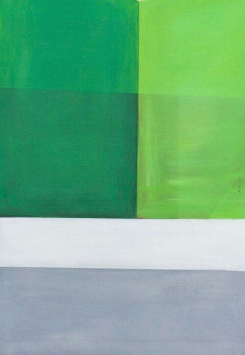 Acrylbild modern Bricks Weiß Grün
