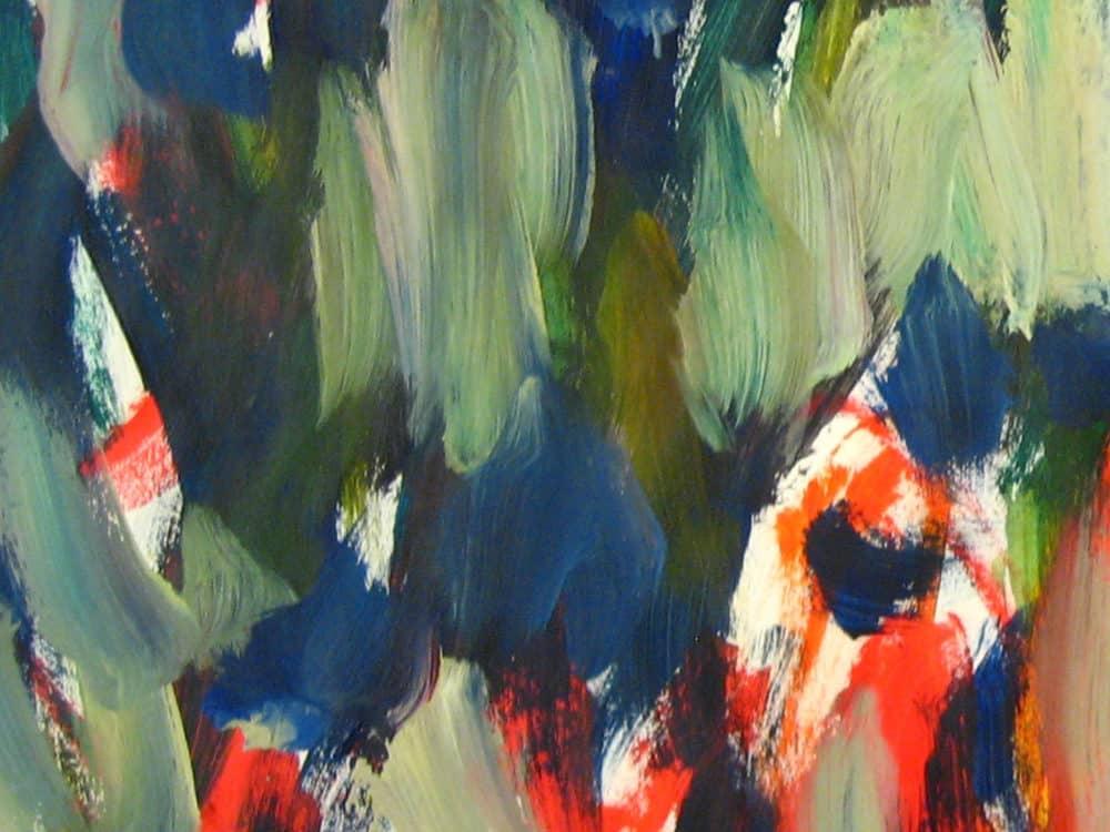 Modernes Acryl Gemälde abstraktes Sonnenrad
