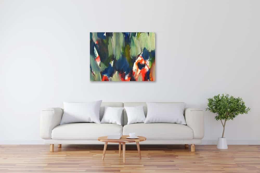 Modernes Acryl Gemälde abstrakt expressiv wandbilder
