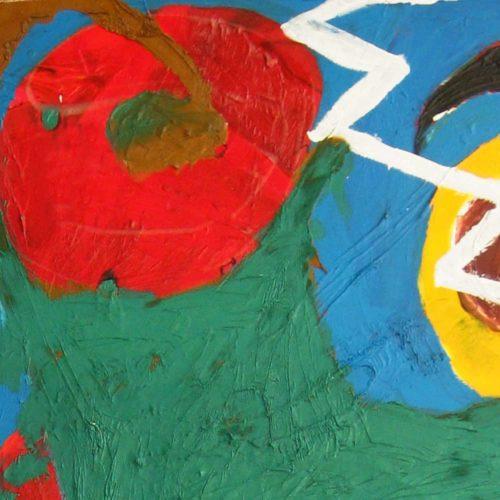 Modernes Acryl Gemälde abstrakt pastos
