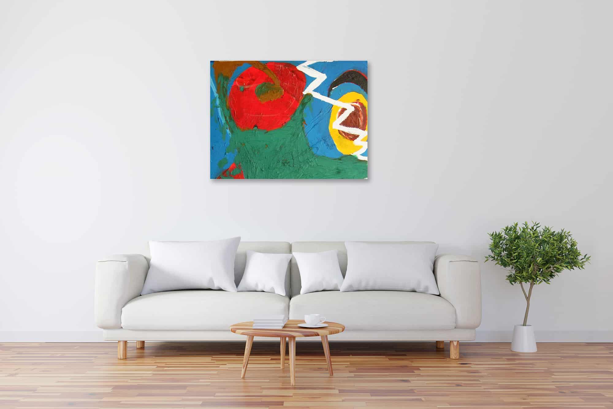 Modernes Acryl Gemälde abstrakt pastos wandbilder