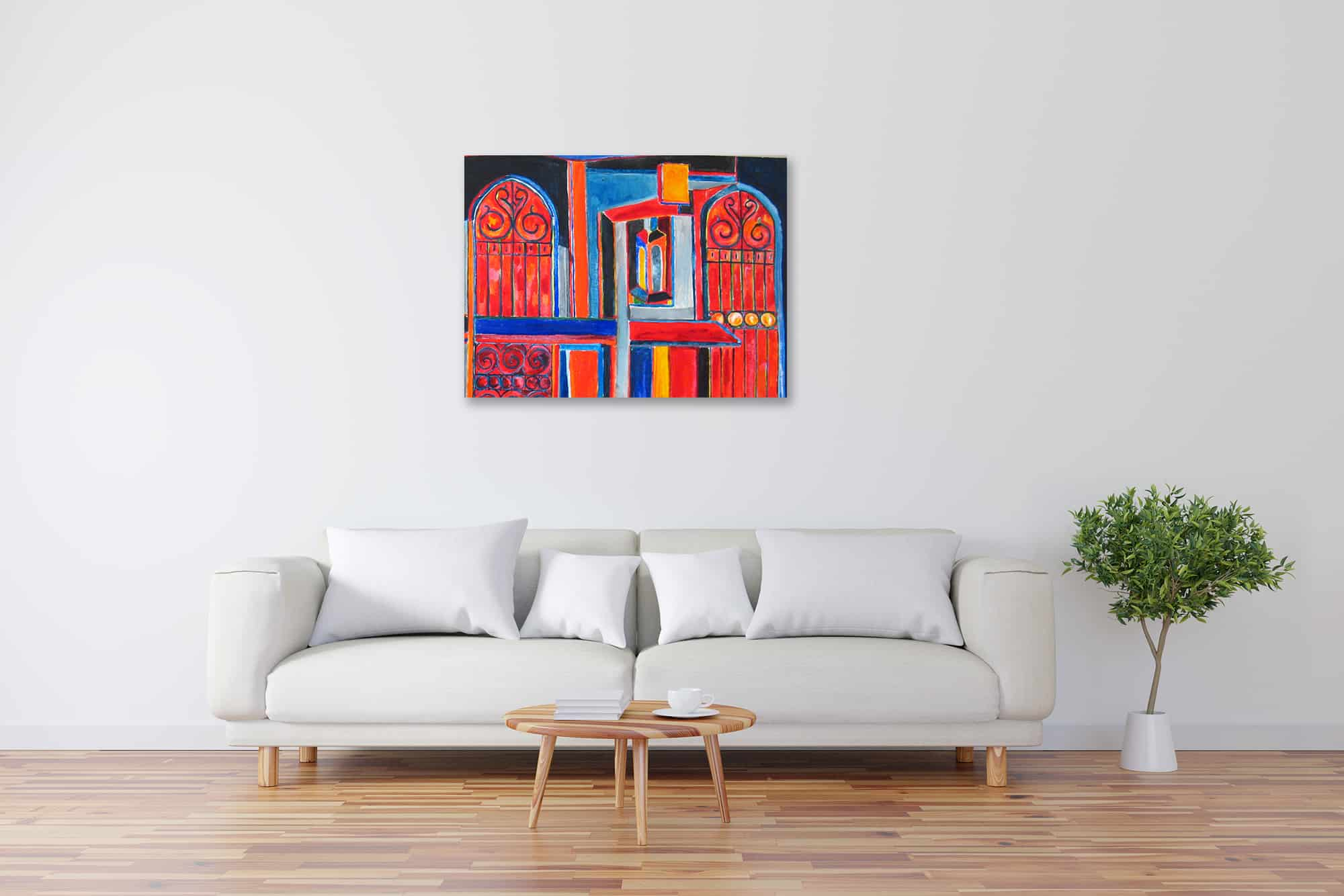 Modernes Acryl Gemälde abstrakte Konstruktion wandbilder