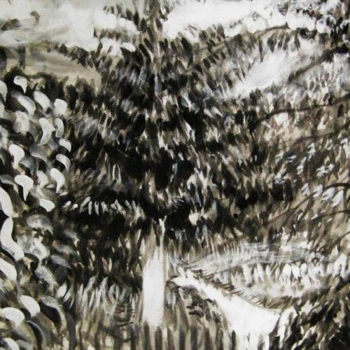 Modernes Acryl Gemälde abstrakte Bäume