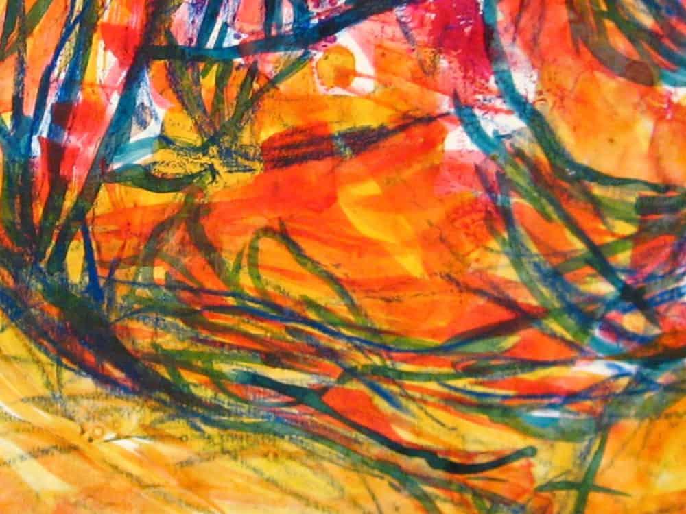 Modernes Acryl Gemälde abstrakte bunte Zeichnung