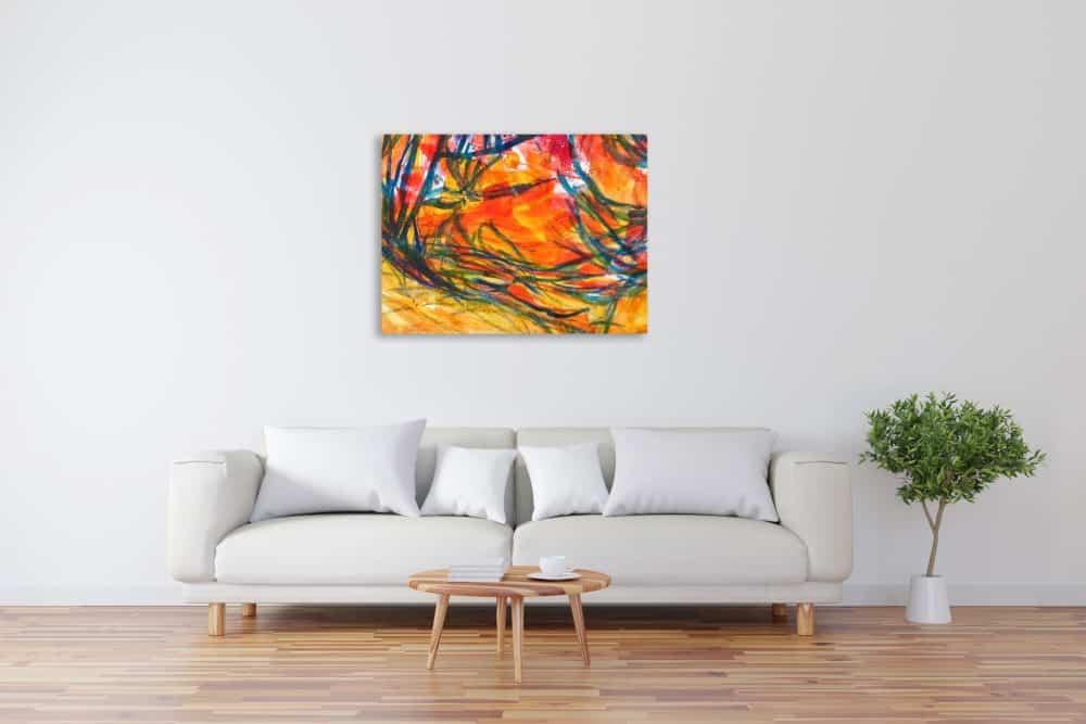 Modernes Acryl Gemälde abstrakte bunte Zeichnung wandbilder