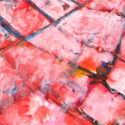 Modernes Acryl Gemälde abstrakte rosa Muster