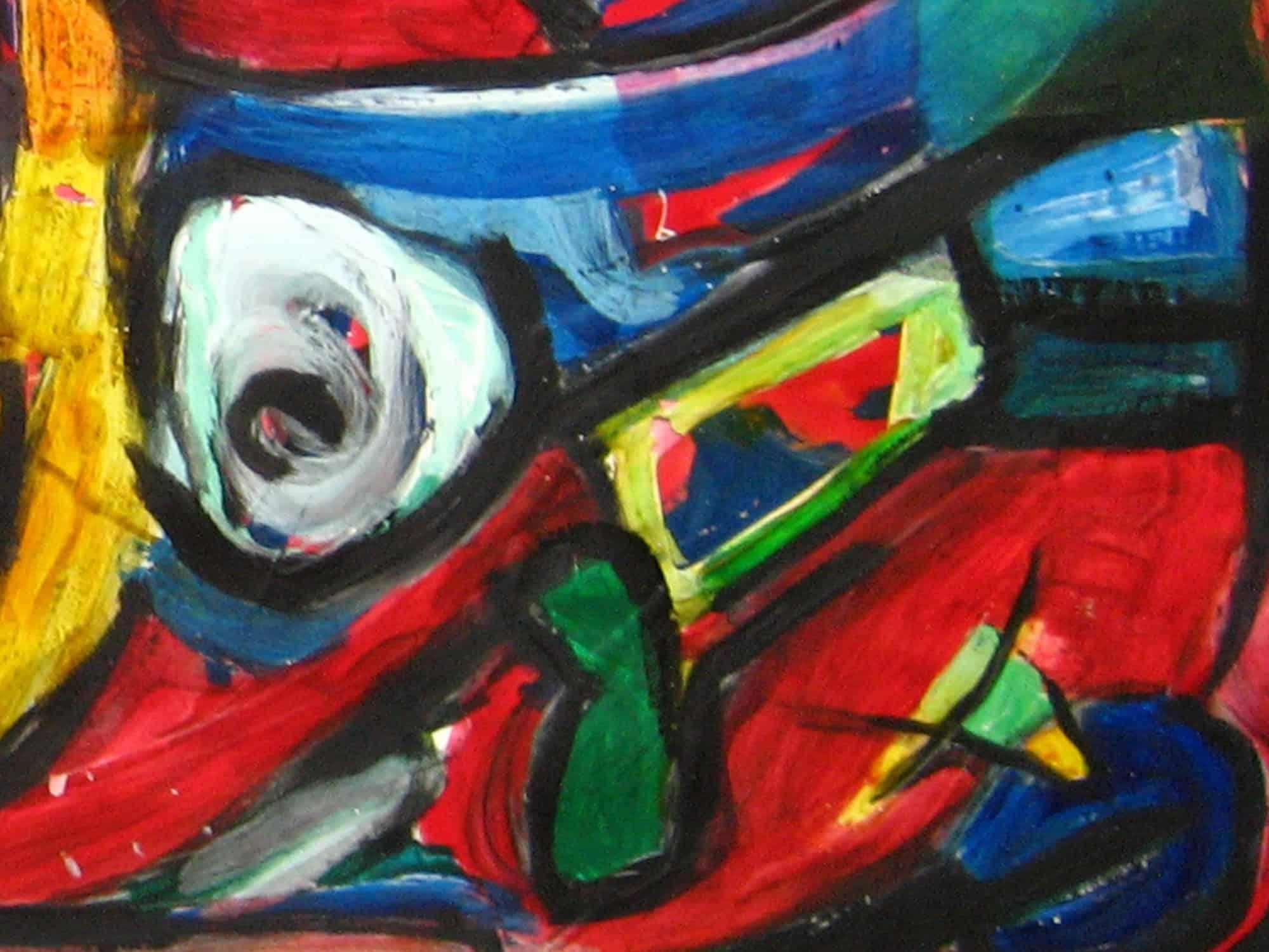 Modernes Acryl Gemälde expressive Formen