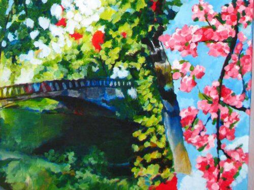 Modernes Acryl Gemälde Frühling