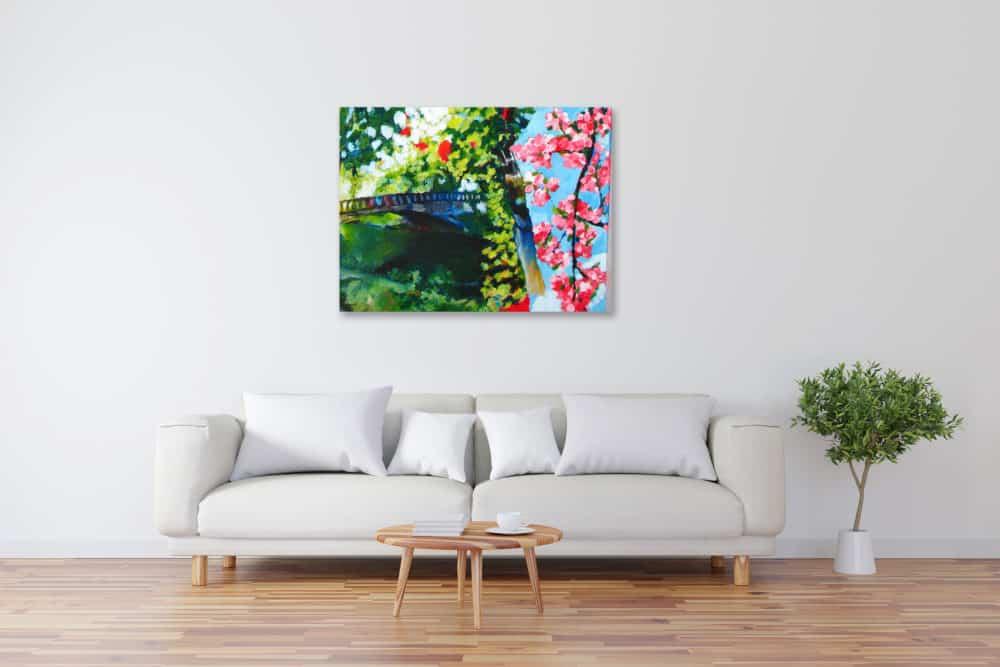 Modernes Acryl Gemälde Frühling wandbilder