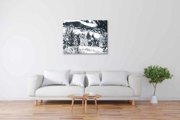 Modernes Acryl Gemälde Wald Zeichnung wandbilder