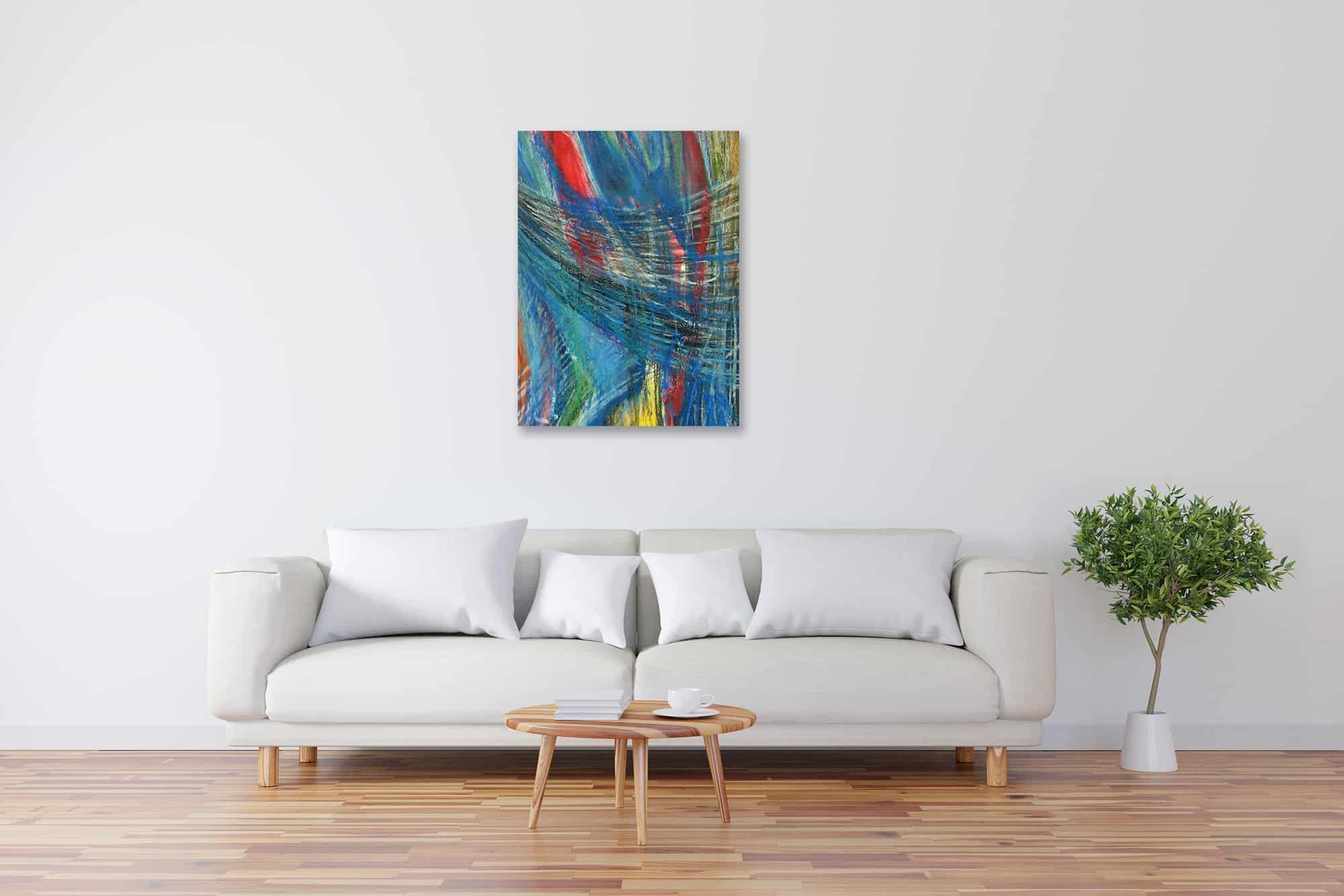 Modernes Acryl Gemälde abstrakte Zeichnung wandbilder