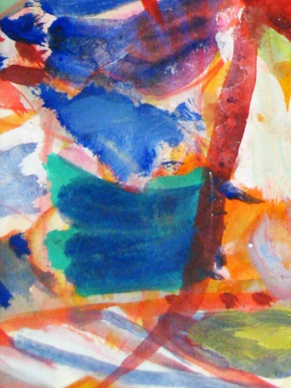 Modernes Acryl Gemälde abstrakte farbige Formen