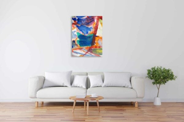 Modernes Acryl Gemälde abstrakte farbige Formen wandbilder