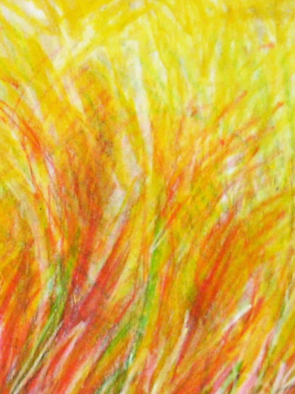 Modernes Acryl Gemälde abstrakte gelbe Phantasie