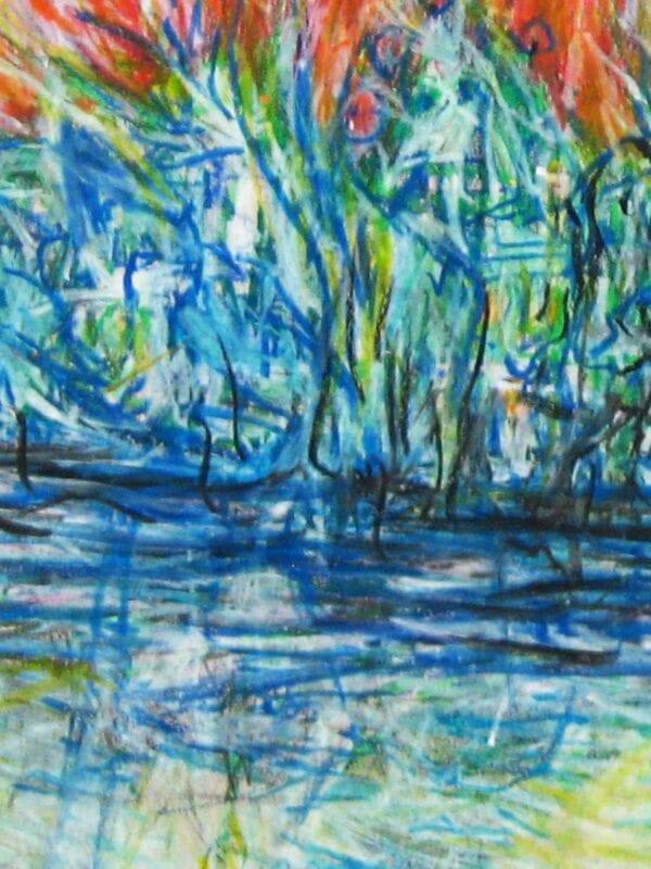 Modernes Acryl Gemälde abstraktes Licht und Wasser