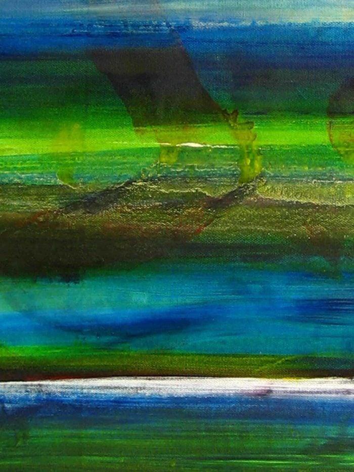 Modernes Acryl Gemälde abstraktes Wasserspiel