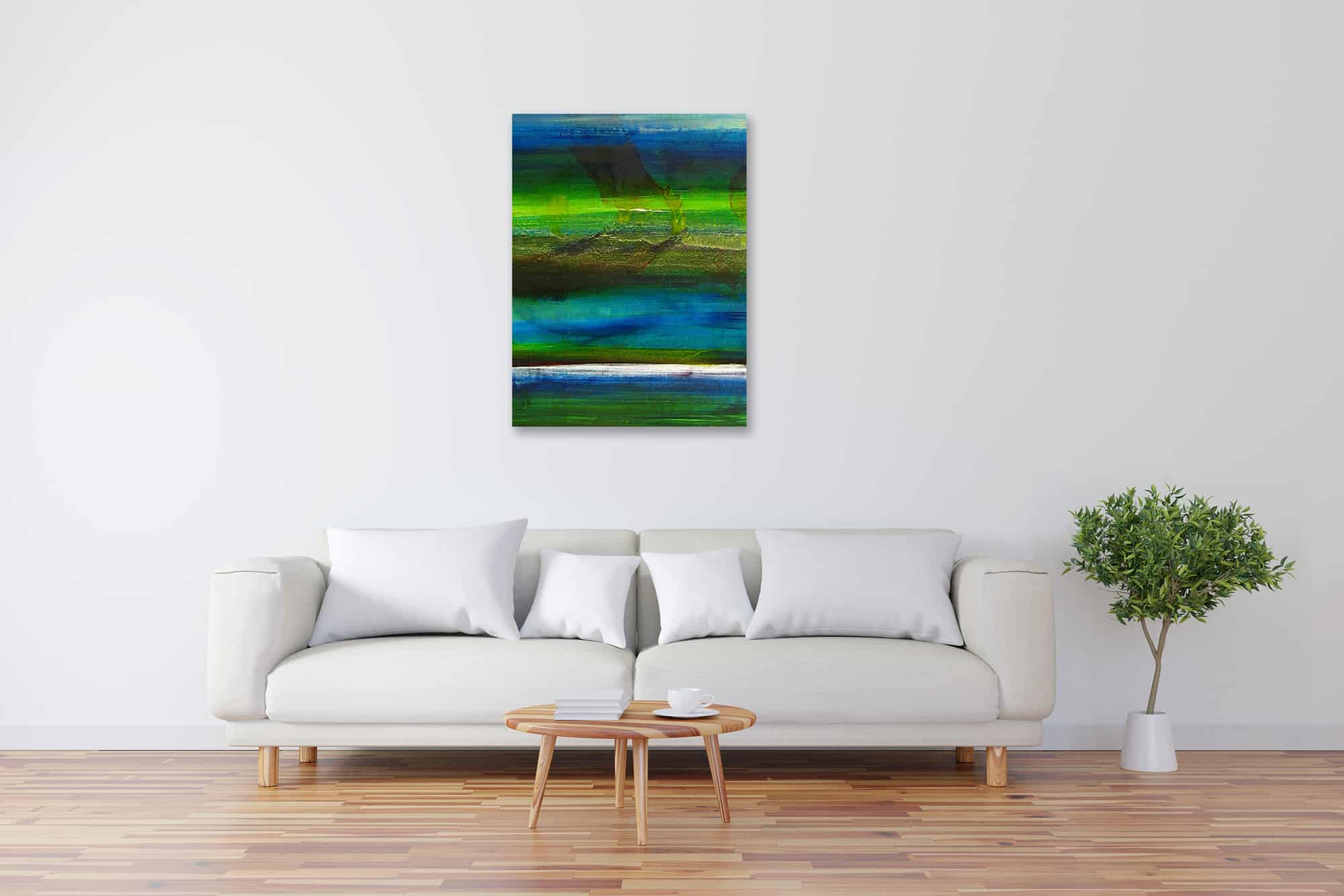 Modernes Acryl Gemälde abstraktes Wasserspiel wandbilder