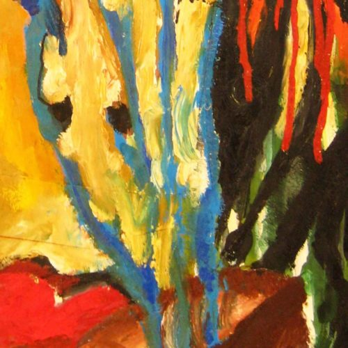 Modernes Kunstbild Acryl auf Leinwand abstrakt