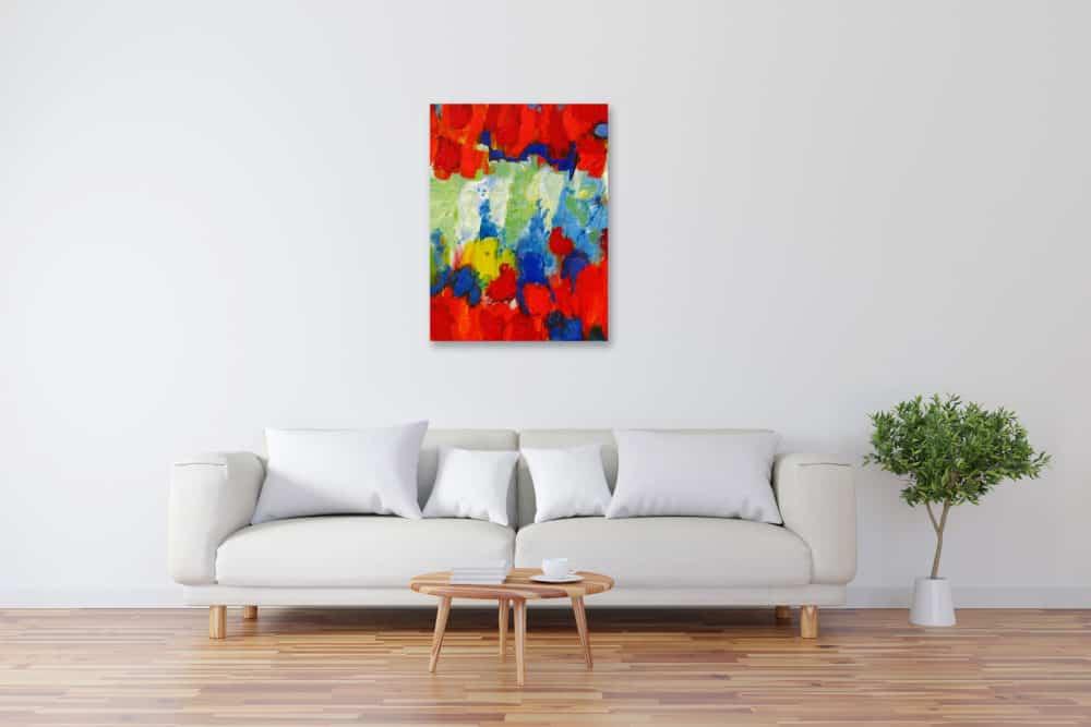 Modernes Kunstbild Acryl auf Leinwand bunt künstler