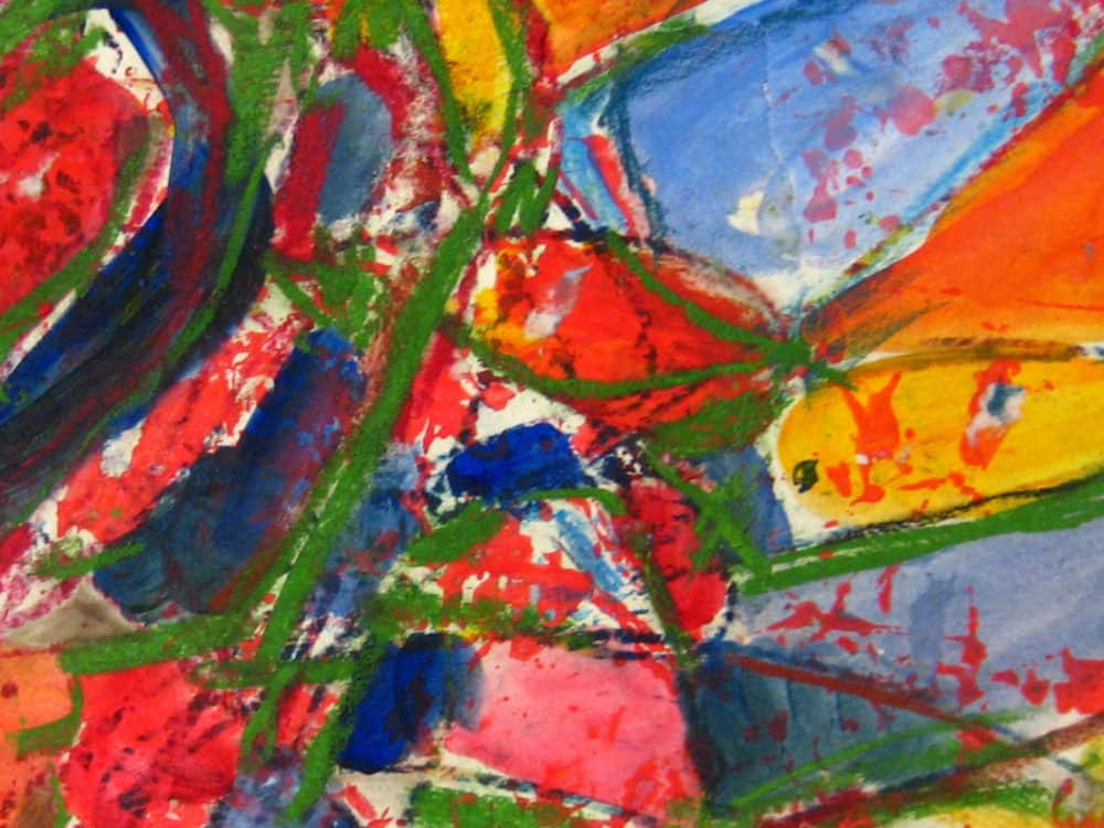 Modernes Kunstbild Acryl auf Leinwand farbig