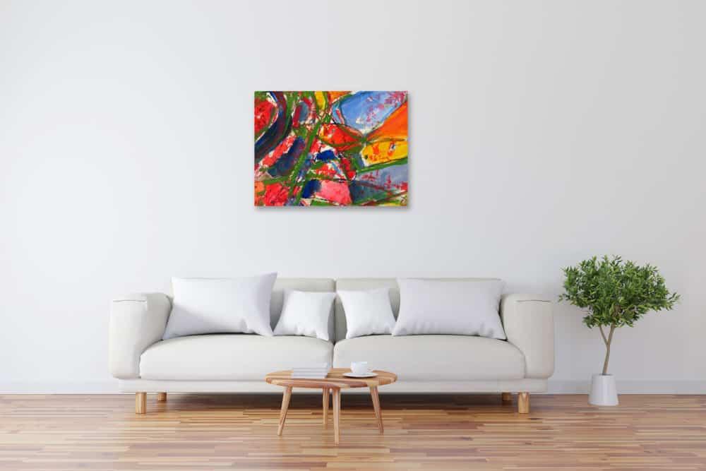 Modernes Kunstbild Acryl auf Leinwand farbig künstler