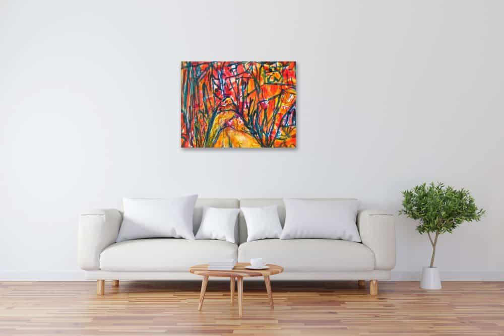 Modernes Kunstbild Acryl auf Leinwand gezeichnet künstler