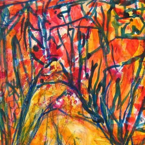 Modernes Kunstbild Acryl auf Leinwand gezeichnet