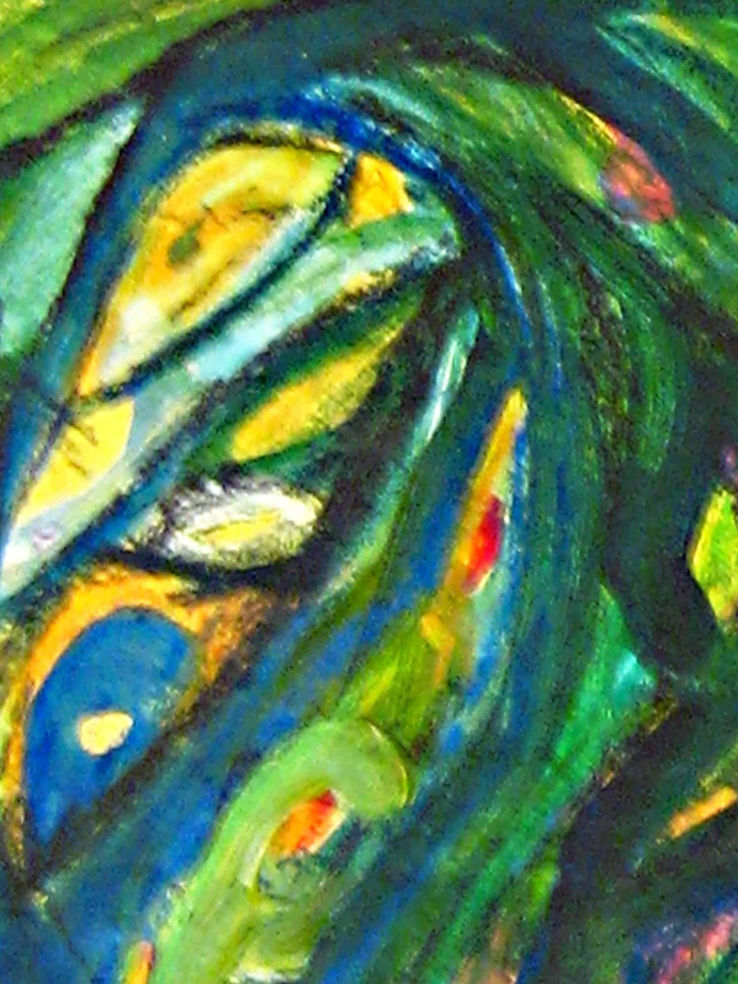 Modernes Kunstbild Acryl auf Leinwand Grün