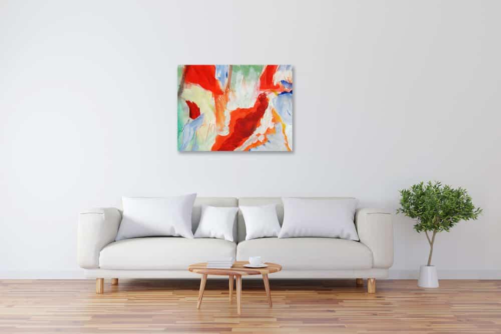 Modernes Kunstbild Acryl auf Leinwand Leicht künstler