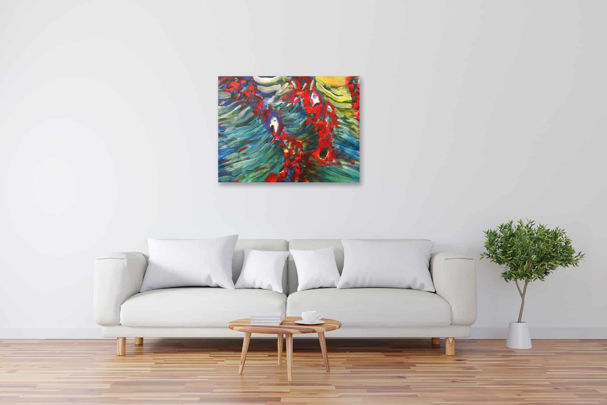 Modernes Kunstbild Acryl auf Leinwand Natur künstler