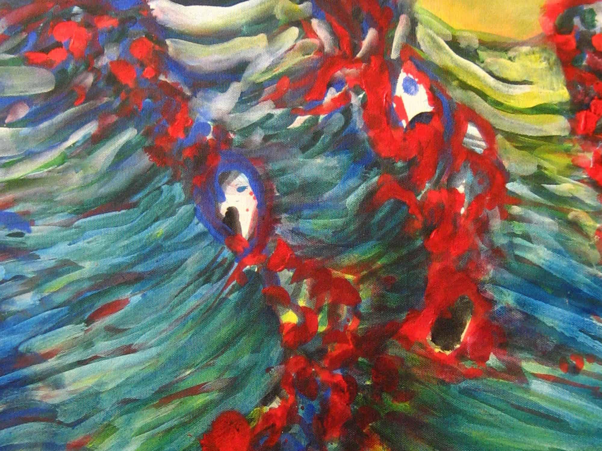 Modernes Kunstbild Acryl auf Leinwand Natur