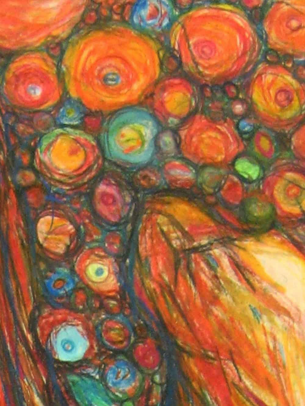Modernes Kunstbild Acryl auf Leinwand Punkte