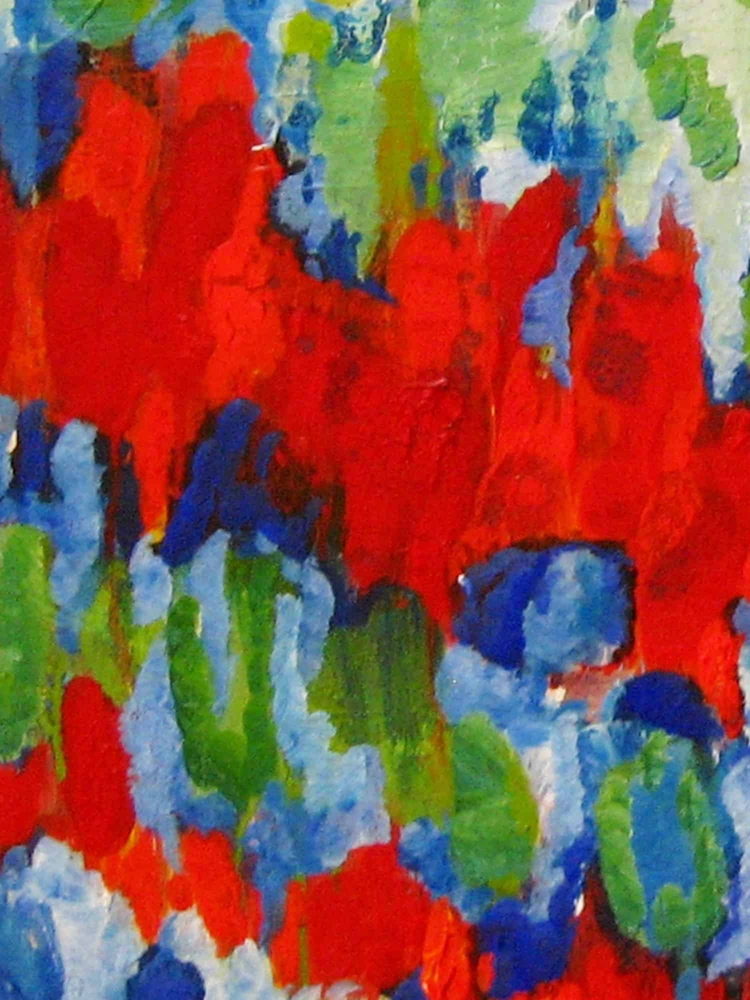 Modernes Kunstbild Acryl auf Leinwand Rot