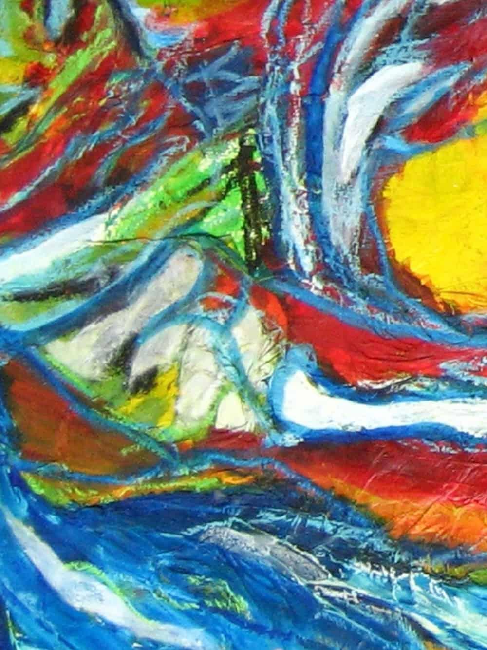 Modernes Kunstbild Acryl auf Leinwand Spuren