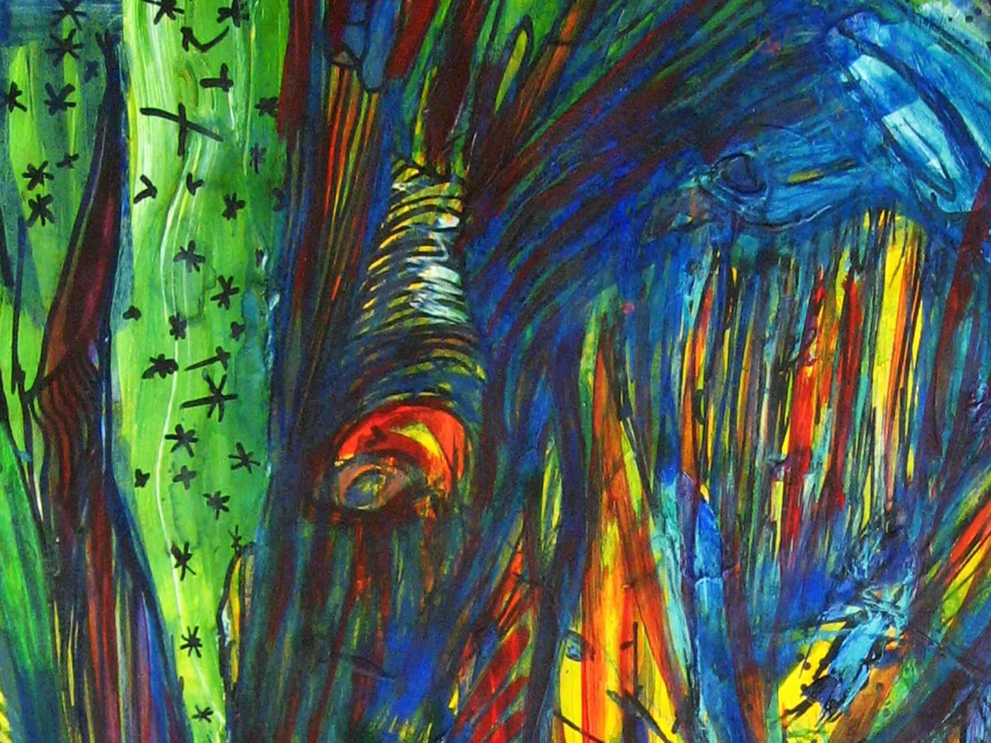 Modernes Kunstbild Acryl auf Leinwand Strom