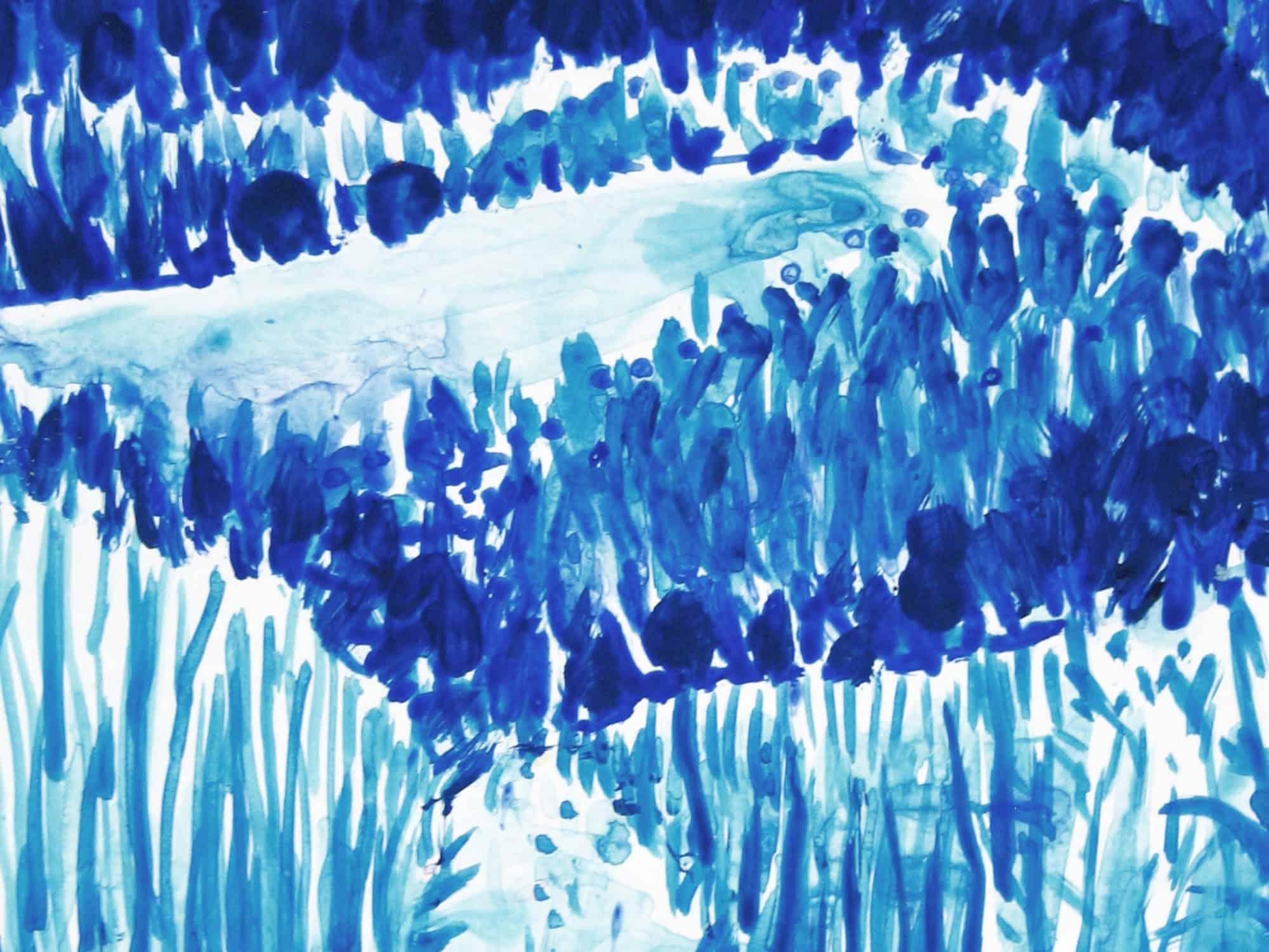 Modernes Kunstbild Acryl auf Leinwand Wiese