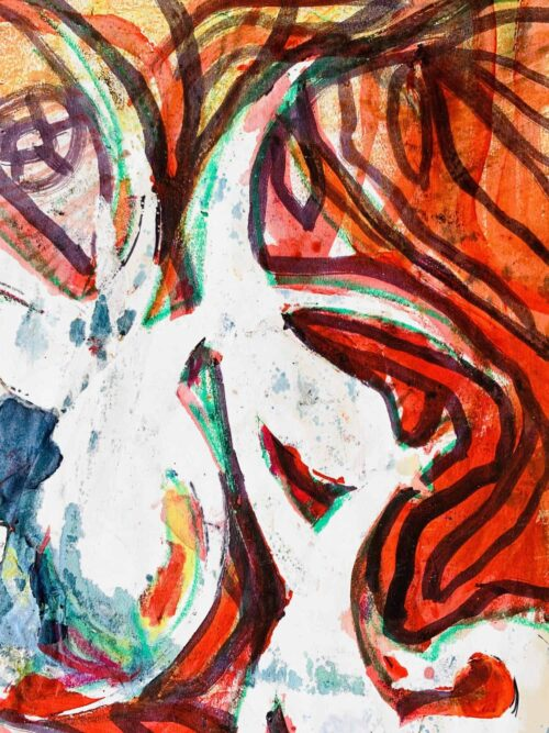 Abstraktes Acrylbild expressives Wesen