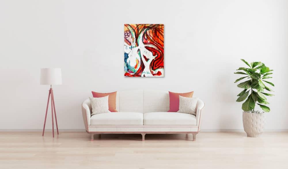 Abstraktes Acrylbild expressives Wesen wandbild