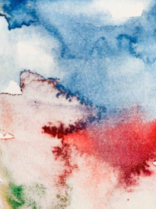 Abstraktes Acrylbild zart