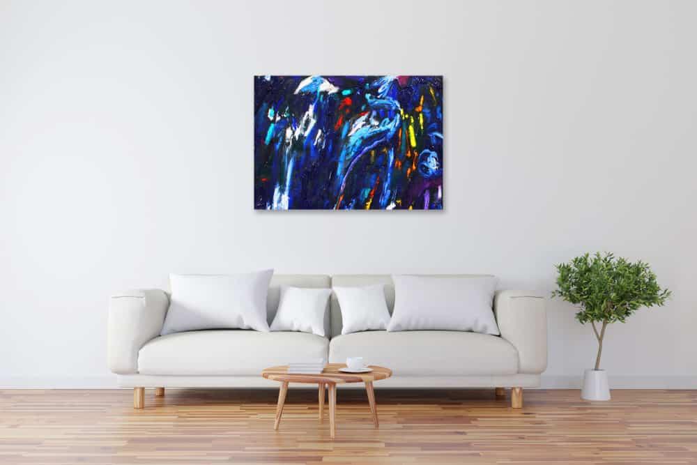 Acryl Gemälde abstrakt dunkel Blau bild kaufen